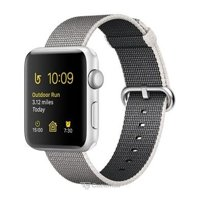 Smart watches,sports bracelets Apple Watch Series 2 42mm Silver Aluminum Case with Pearl Woven Nylon Band (MNPK2)