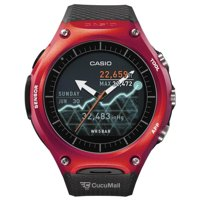 Photo Casio WSD-F10 Smart Outdoor Watch - Black/Red