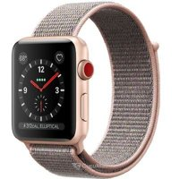 Smart watches,sports bracelets Apple Watch Series 3 (GPS) 42mm Gold Aluminum w. Pink Sand Sport L. (MQK72)