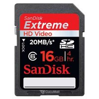 Photo SanDisk SDHC Extreme HD Video 16Gb (SDSDX-016G-X46)